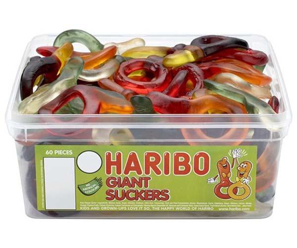 Haribo Giant Suckers 60Pcs Tub