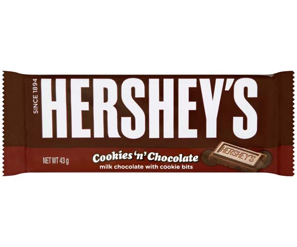 Hersheys - 36x43G - Cookies & Chocolate