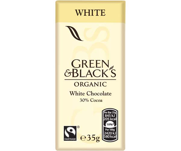 Green & Blacks - White - 30x35g