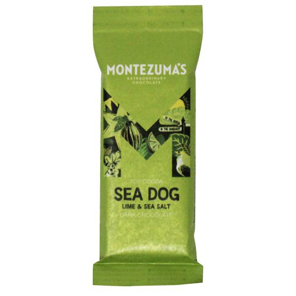Montezumas - Seadog Dark Chocolate Lime & Sea Salt - 26x30g