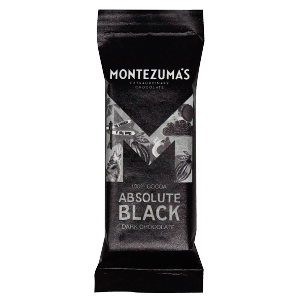 Montezumas - Absolute Black - 100% Cocoa Solids - 26x25g