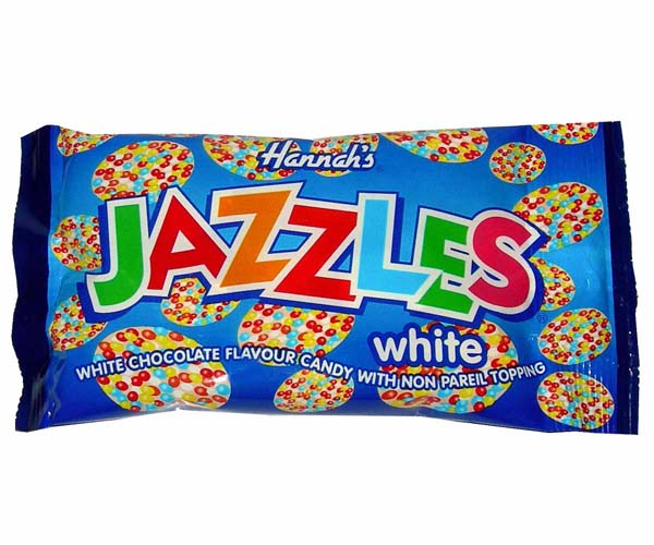 White Chocolate Flavoured Jazzies - 24x40g