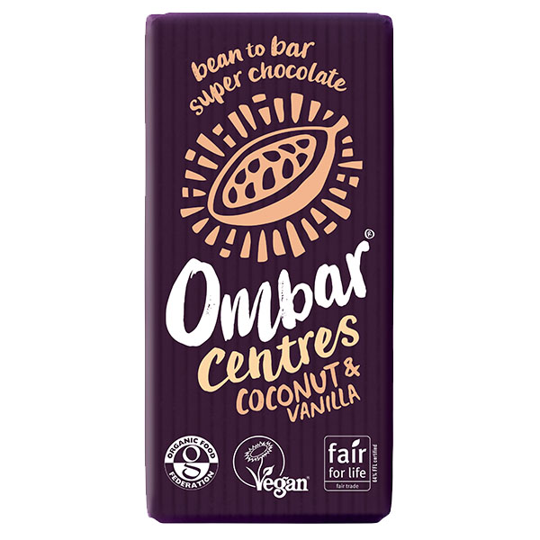 Ombar - Raw Chocolate - Coconut & Vanilla Centre - 10x35g