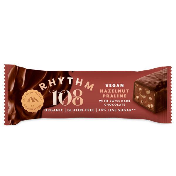 108 Foods - Swiss Choco Bar - Hazelnut Quinoa Praline-15x33G