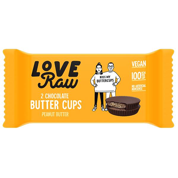 Love Raw Butter Cups - Peanut Butter - 18x34g