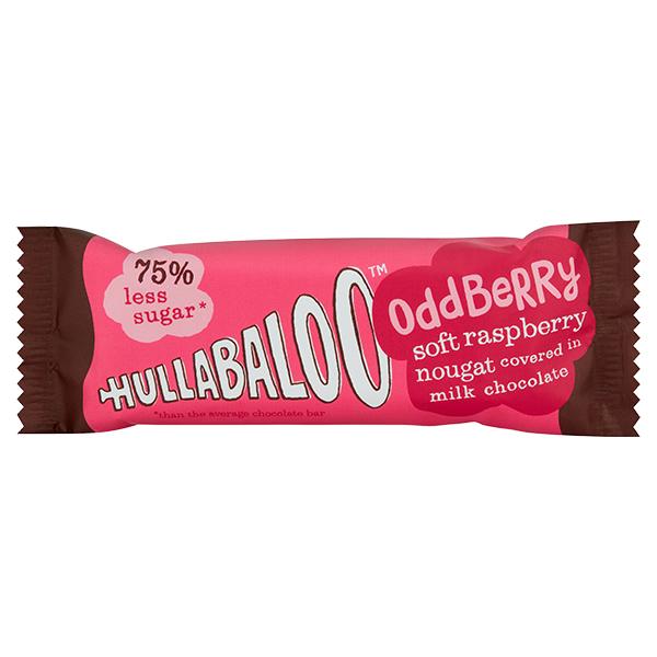 Hullabaloo - Oddberry - Milk Chocolate Raspberry Nougat - 15x26g