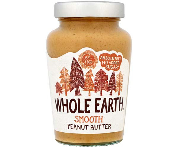 Whole Earth Smooth Peanut Butter 6x454G