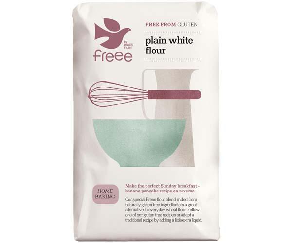 Doves Farm - Plain White Gluten Free Flour - 5x1kg