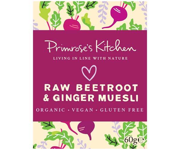 Primrose's Kitchen - Org Raw Beetroot & Ginger Muesli - 24x60g