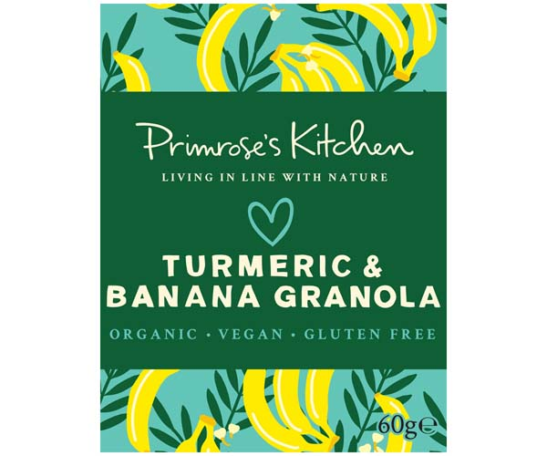 Primrose's Kitchen - Org Banana & Tumeric Granola - 24x60g