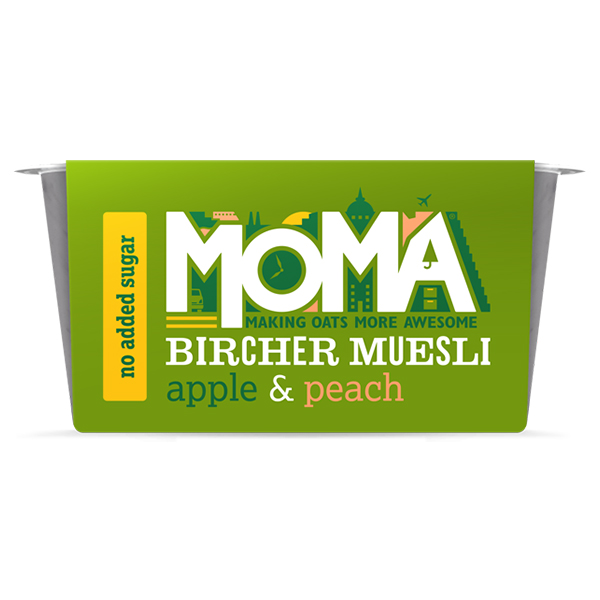 Moma Bircher Muesli - Apple & Peach - 6x220g