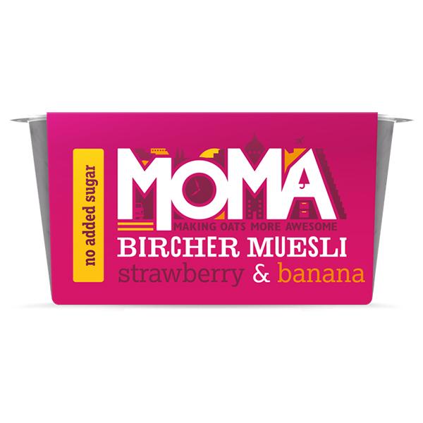 Moma Bircher Muesli - Strawberry & Banana - 6x220g