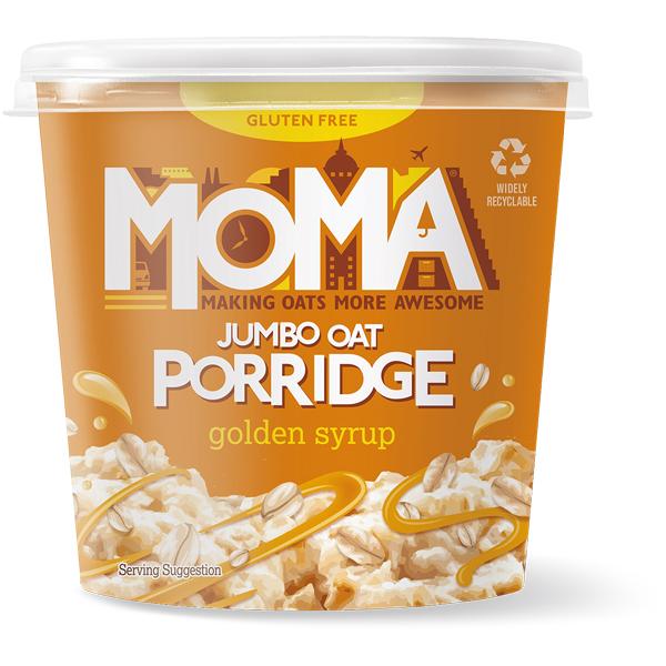 Moma Porridge - Golden Syrup - 12x70g