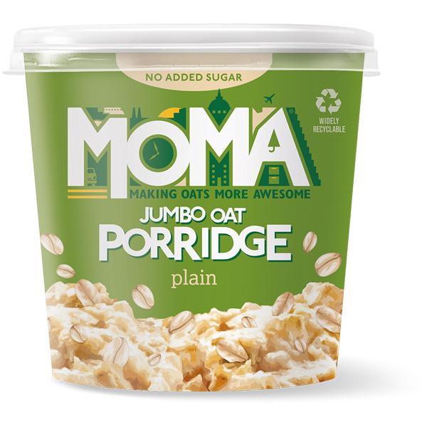 Moma Porridge - No Added Sugar Plain (Green) - 12x70g