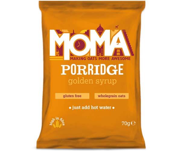 Moma Porridge Sachets - Golden Syrup - 2x15x70g