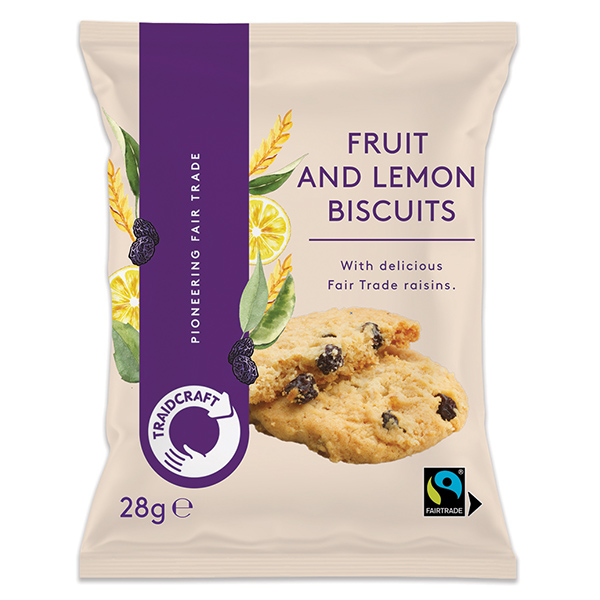 Traidcraft - F/T - Fruit & Lemon Biscuits - 20x28g