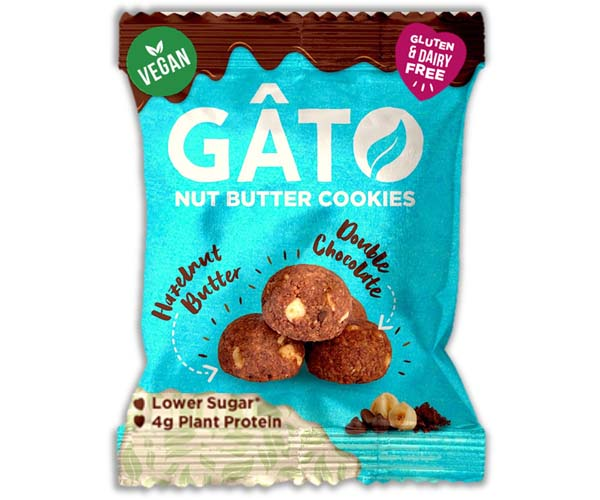 Gato Nut Butter Cookies - Hazelnut Double Choc - 10x33g