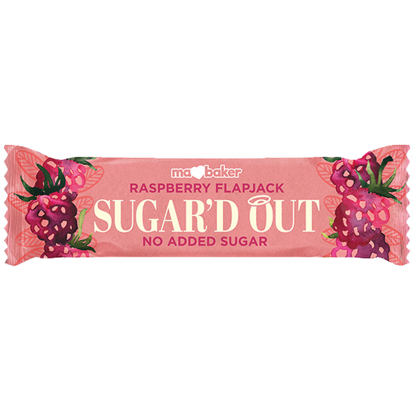 Ma Baker - Sugar'D Out Flapjack - Raspberry - 16x50g