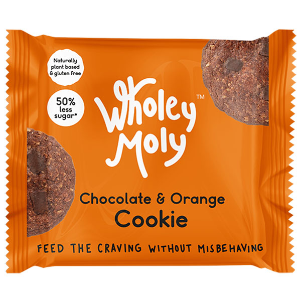Wholey Moly Cookies - Cacao & Orange - 12x38g