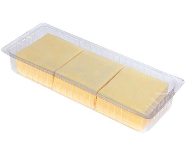 Mild Cheddar Slices (50x20g) - 1x1kg