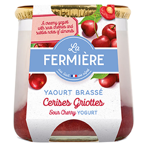 La Fermiere Glass Yoghurt Jar - Cerise - 6x160g