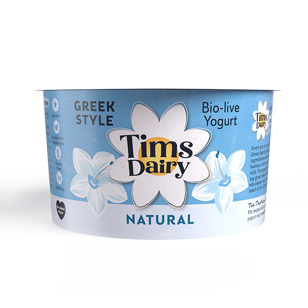 Tims Dairy - Greek Style Natural Yoghurt - 6x200g