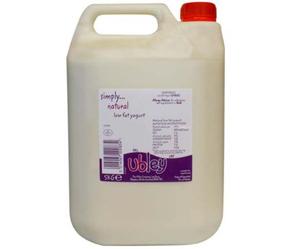 Ubley - Low Fat Natural Yoghurt - 1x5kg