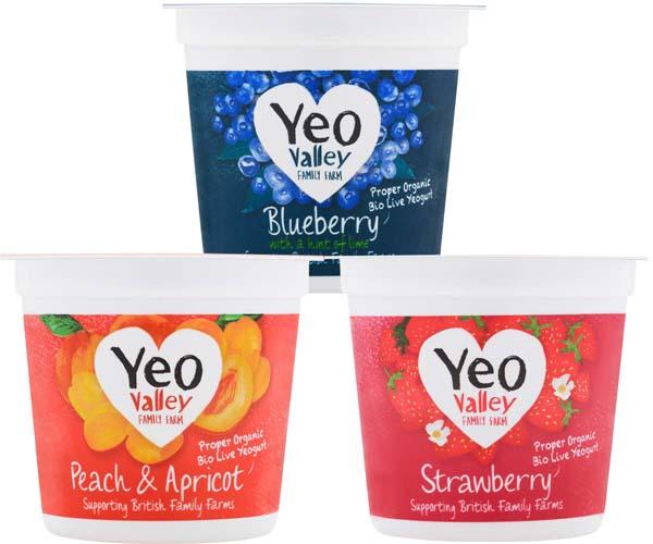 Yeo Valley- Fruity Favourites Wholemilk Mixed Case - 12x120g