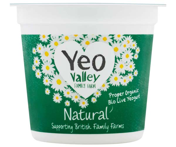 Yeo Valley - Wholemilk Natural Yoghurt - 12x120g