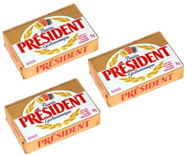 President Unsalted Butter Portions - 750x8G