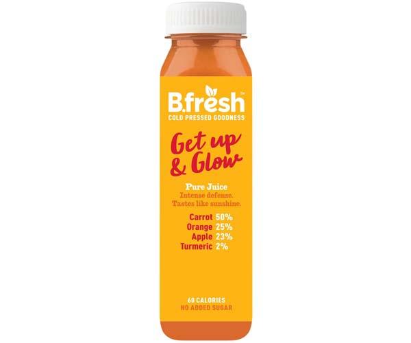 B Fresh - Get Up & Glow Fruit & Veg Juice - 6x250ml