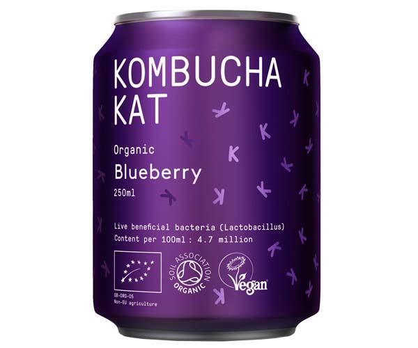 Kombucha Kat Can - Blueberry - 12x250ml