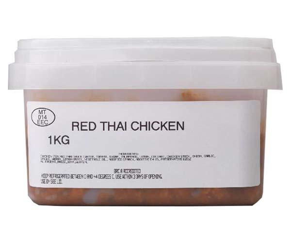 Sandwich Filler - Marinated Red Thai Chicken - 1x1kg