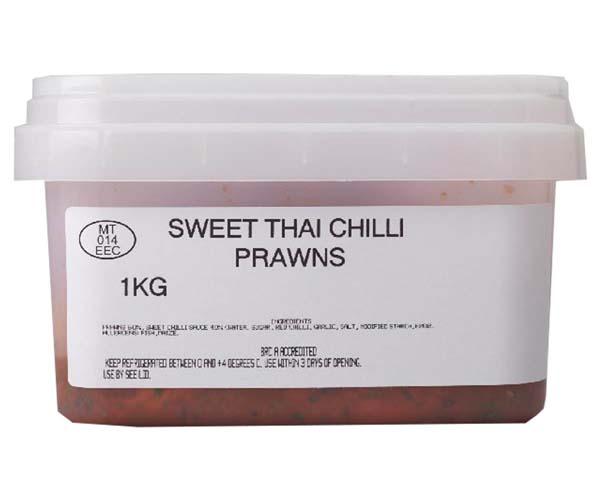 Sandwich Filler - Sweet Thai Chilli Prawns - 1x1kg