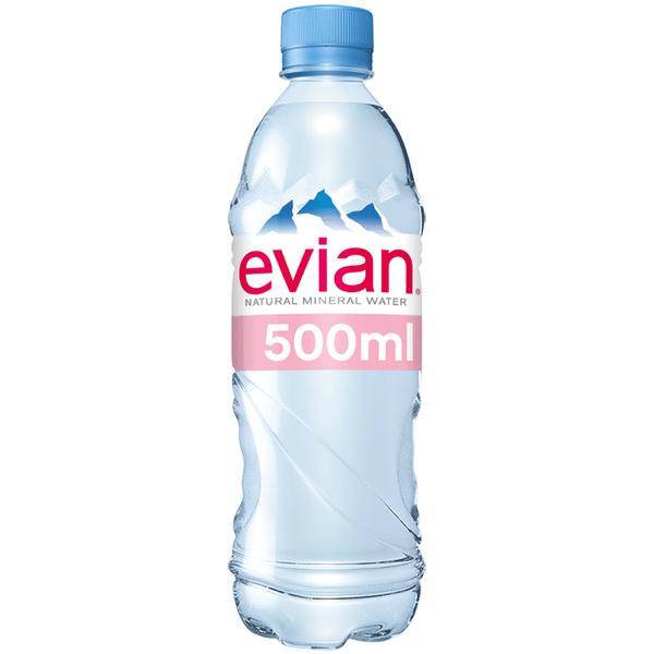 Evian Mineral Water - Still - 24x500ml