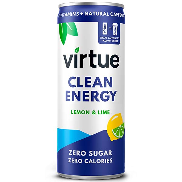 Virtue Clean Energy - Lemon & Lime - 12x250ml