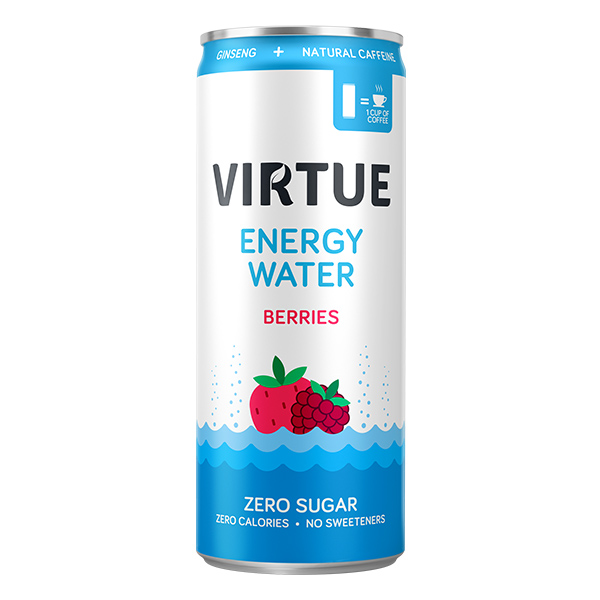 Virtue Energy Water - Berries - 12x250ml