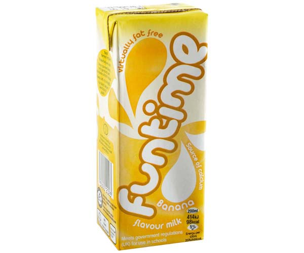 Funtime - Banana Milk - 30x200ml