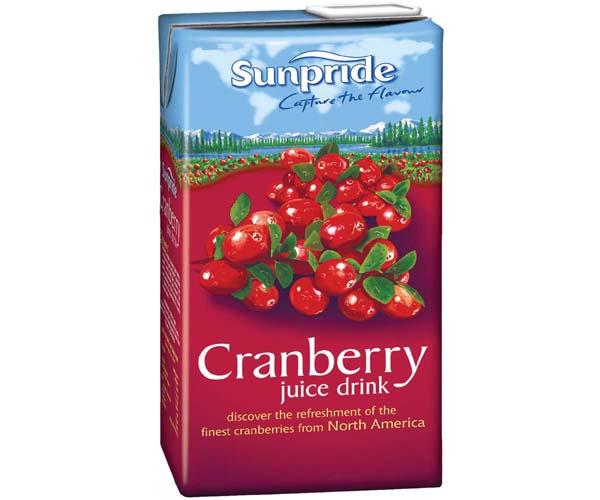 Sunpride Juices - 100% Cranberry - 12x1L