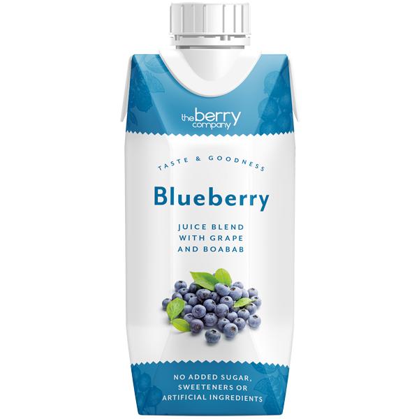 Berry Juice - No Added Sugar - Blueberry Grape & Baobab - 12x330ml