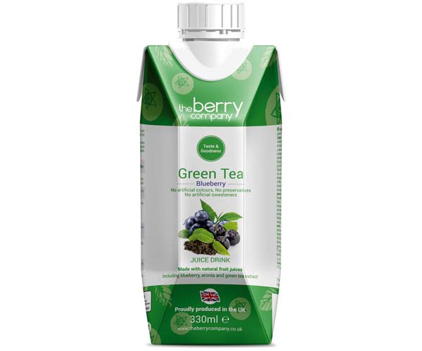 Berry Juice Co - Green Tea, Blueberry & Aronia - 12x330ml