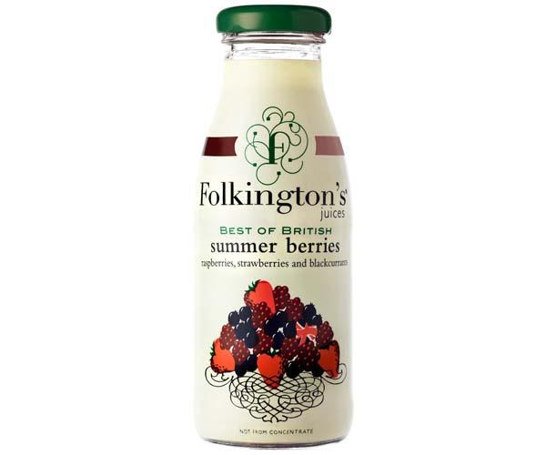 Folkingtons - British Summer Berries - 12x250ml Glass