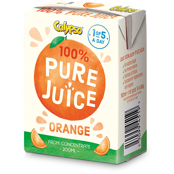 Calypso - Pure Orange Juice - 27x200ml