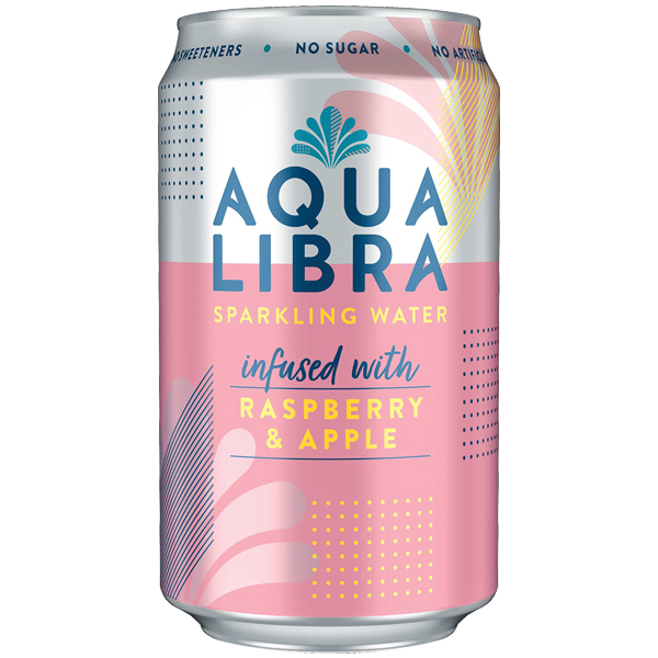 Aqua Libra Can - Raspberry & Apple - 24x330ml