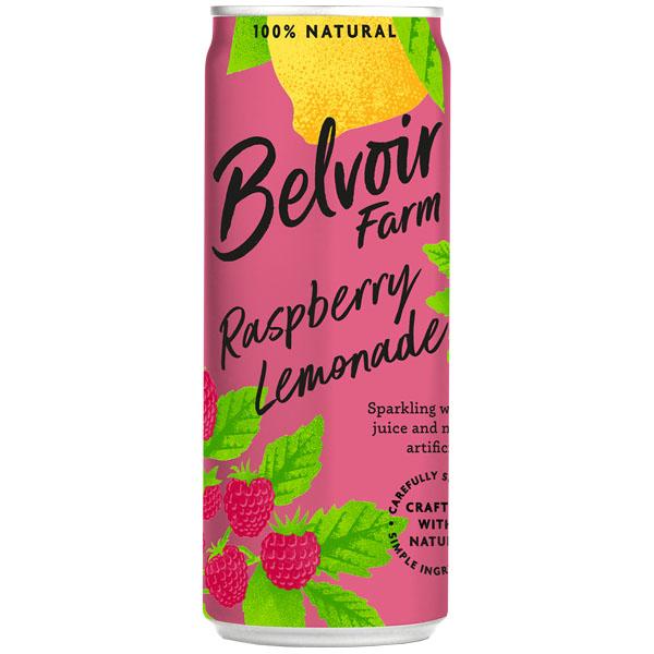 Belvoir Cans - Rasp Lemonade - 12x250ml