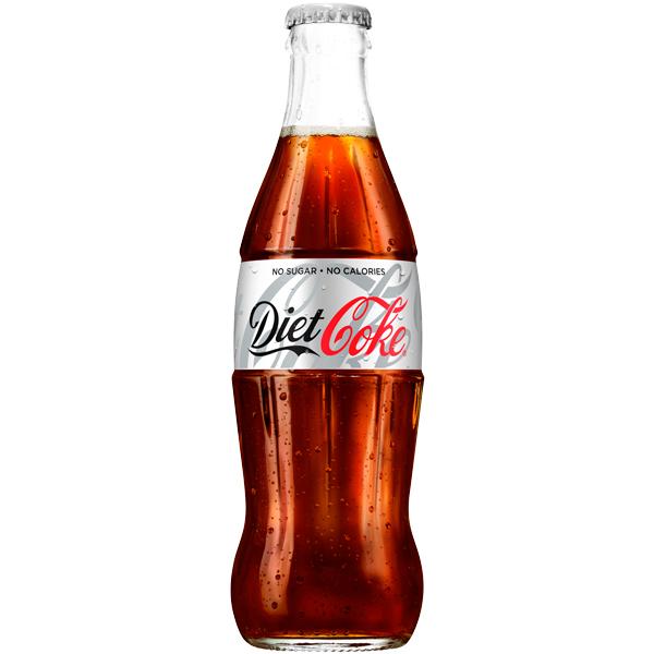 Diet Coke Glass Bottles 24x330ml