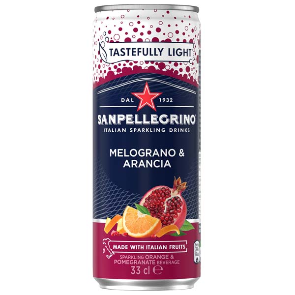 San Pellegrino - Melograno Arancia - 4x6 330ml Cans