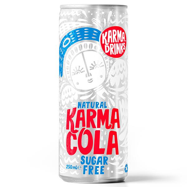 Karma Drinks - Cans - Cola Sugar Free - 24x250ml