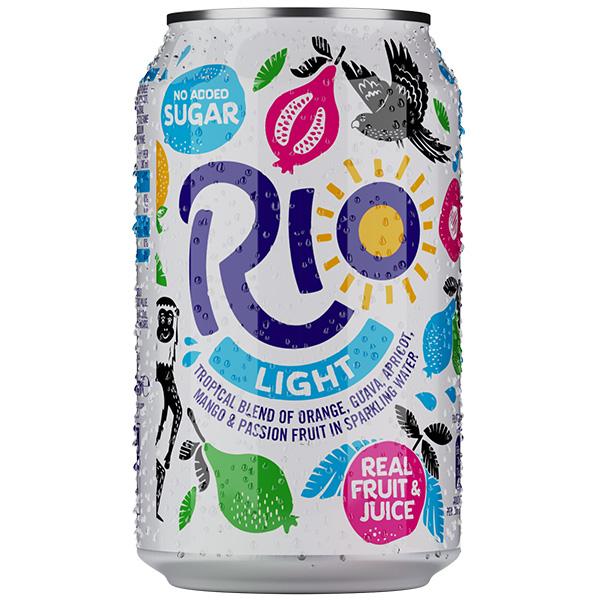 Rio Light - Tropical Sparkling Fruit Drink - 24x330ml