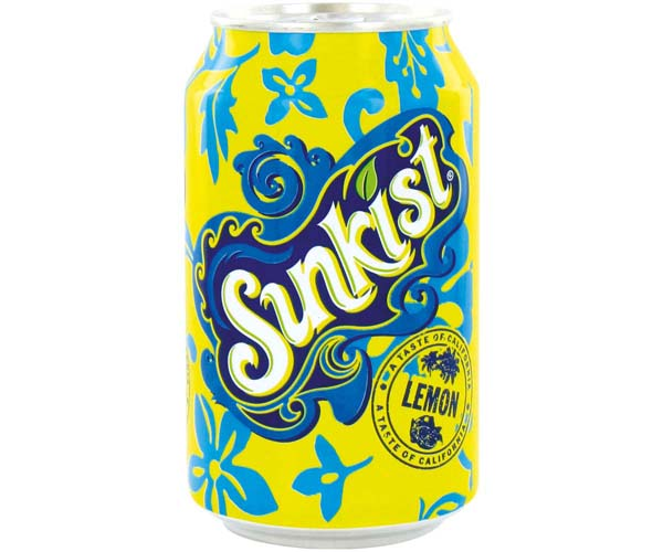 Sunkist Cans - Lemon - 24x330ml